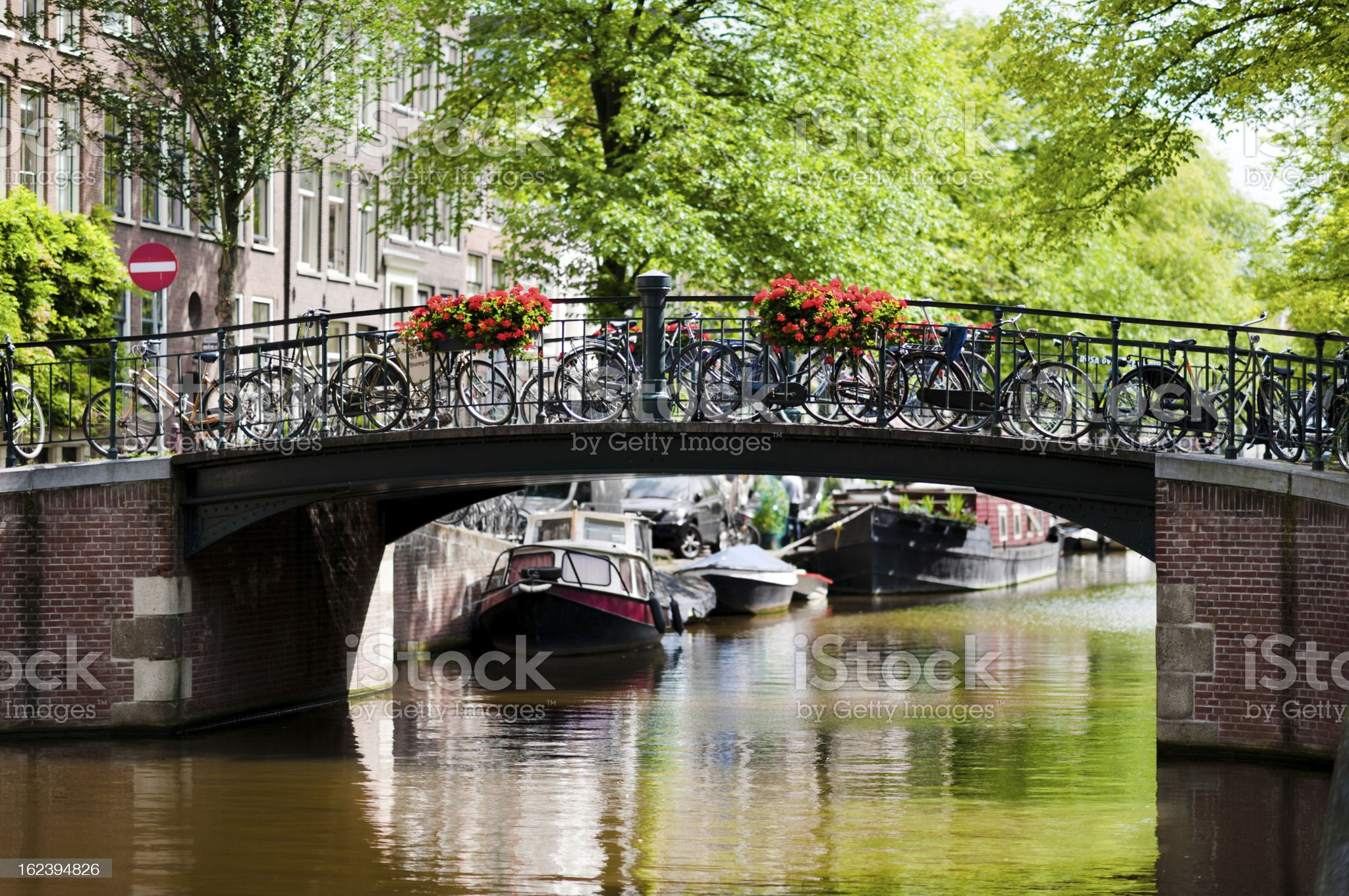 Bridge on Amsterdam Canal royalty-free stock photo