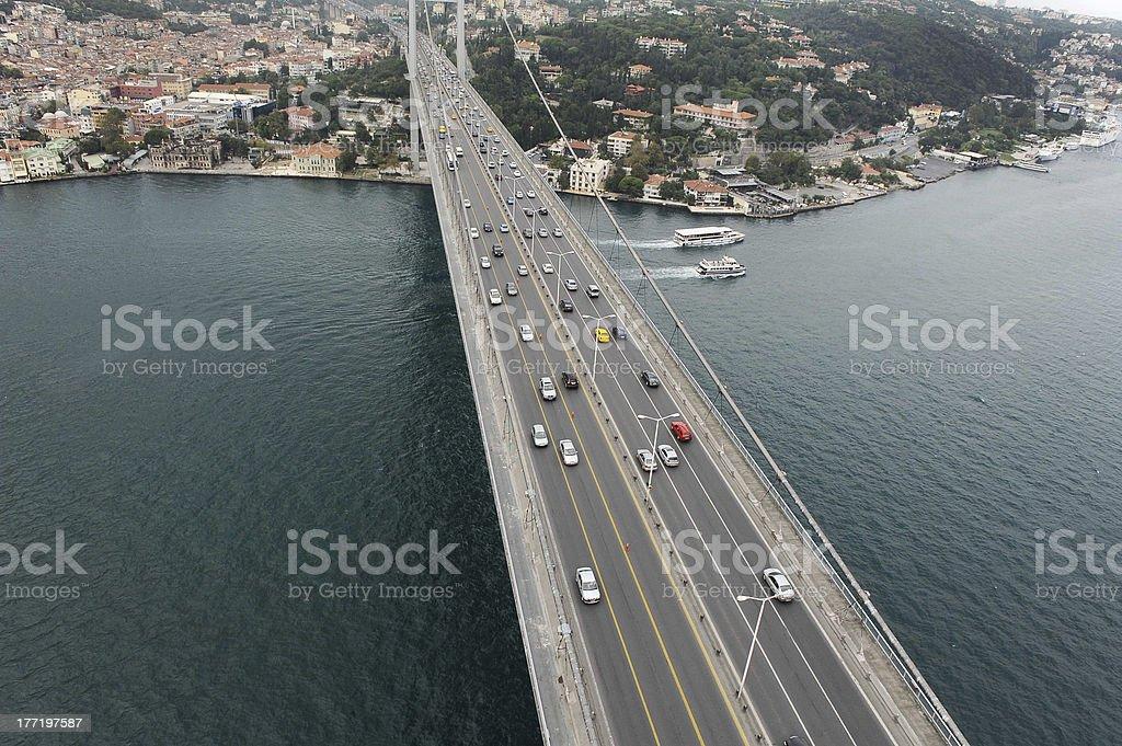 Bridge on Bosphorus royalty-free stock photo