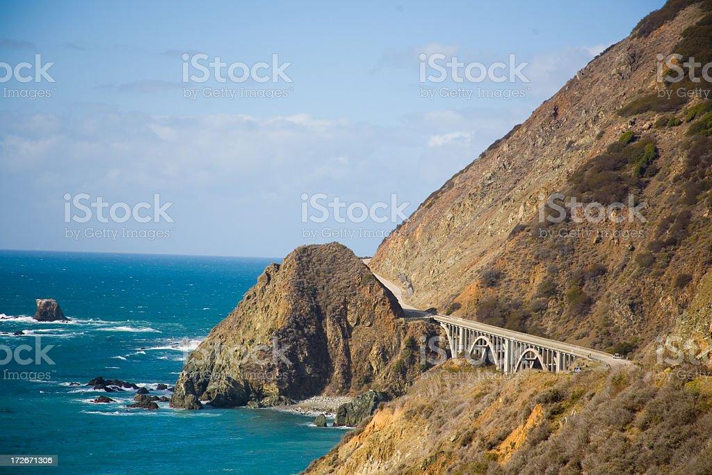 Bridge On Highway One royalty-free stock photo