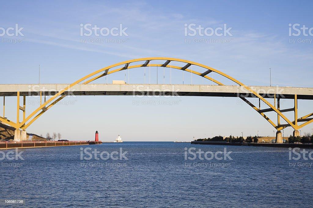 Bridge on Lake Freeway royalty-free stock photo