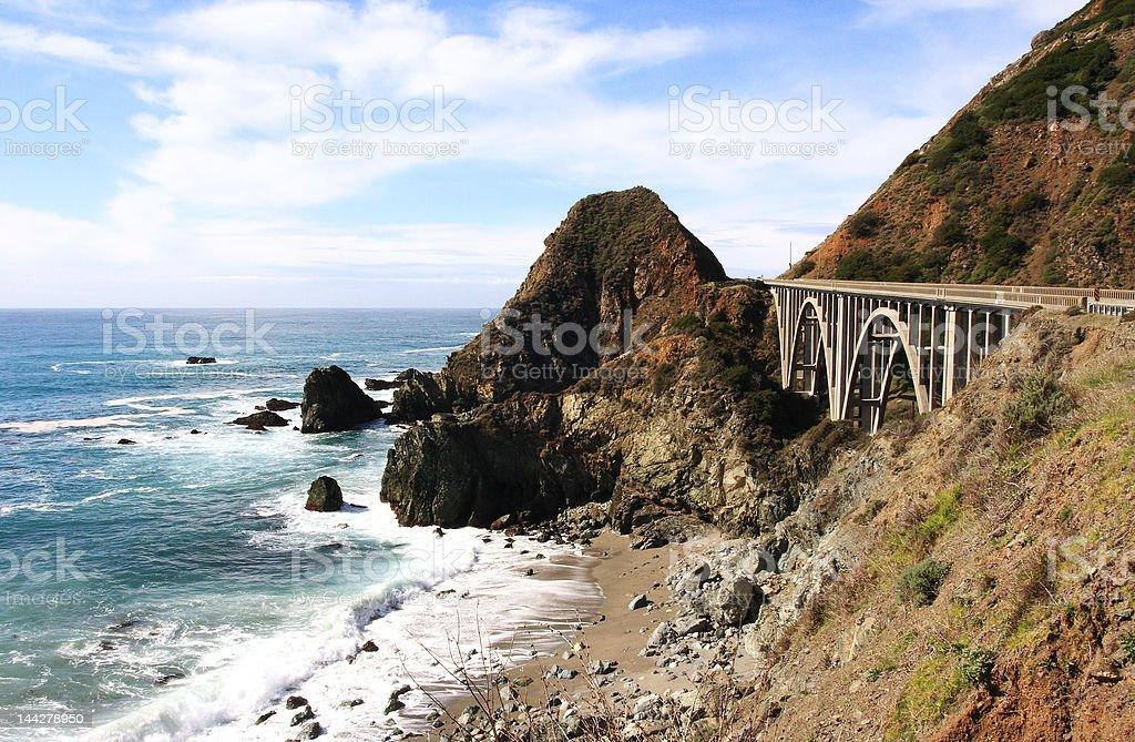 Bridge on Pacific Coast Hihway stock photo