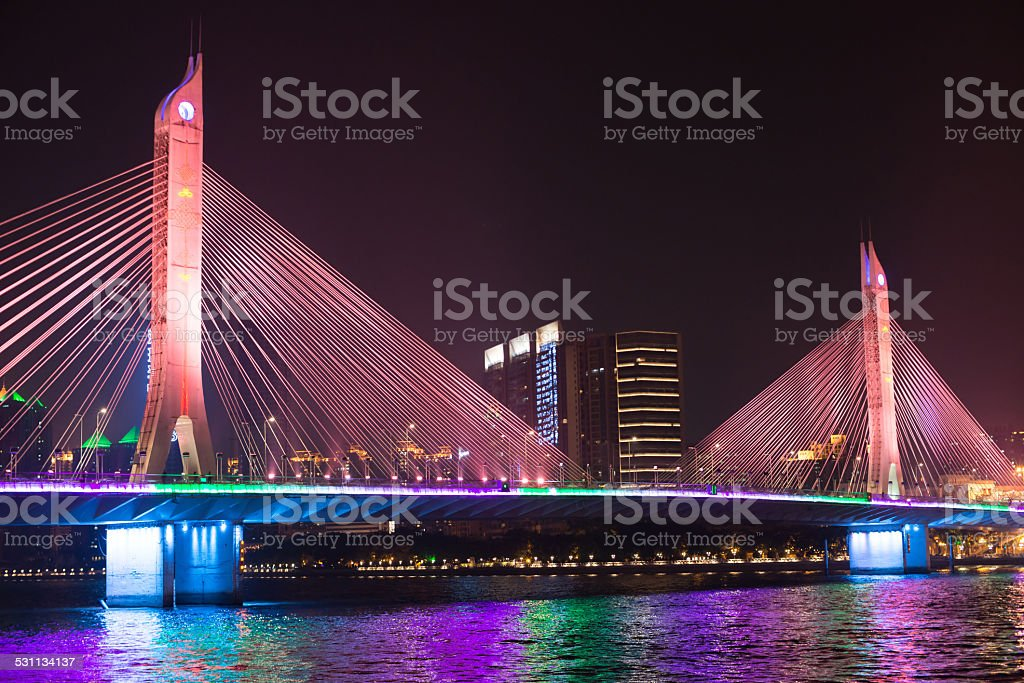 bridge on pearl river stock photo