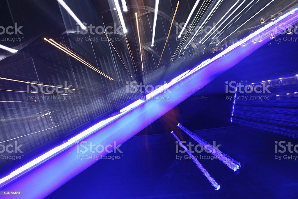 Bridge on river Odra ( Poland ) at night royalty-free stock photo