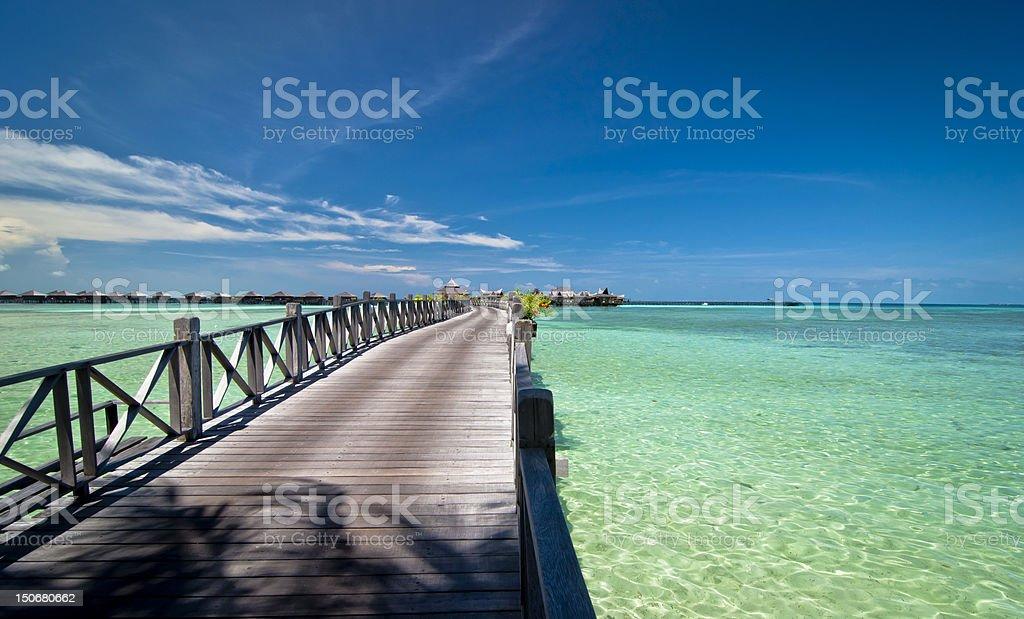 Bridge on Sipadan Island, Malaysia royalty-free stock photo