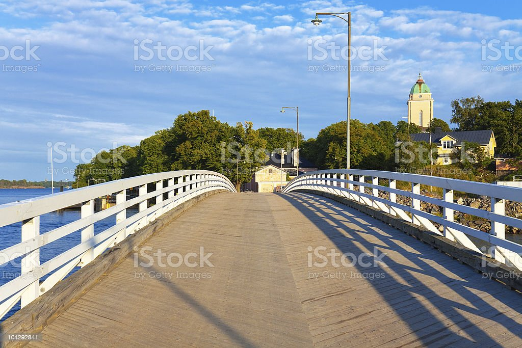 Bridge on Sveaborg island in Helsinki, Finland royalty-free stock photo