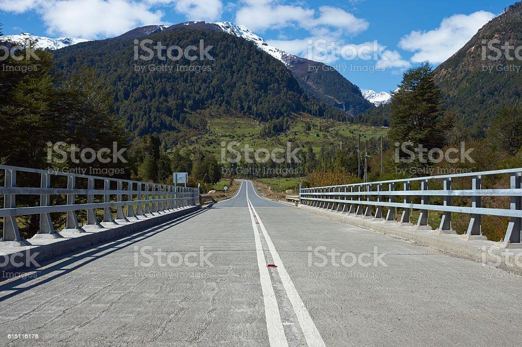 Bridge on the Carretera Austral stock photo