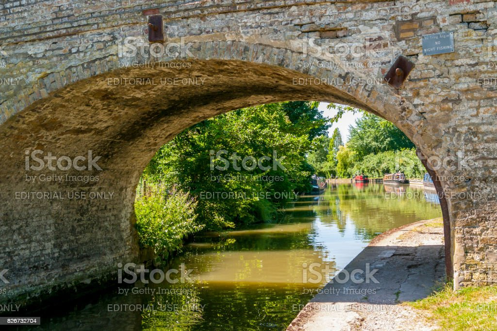 A  Bridge on the Grand Union Canal stock photo