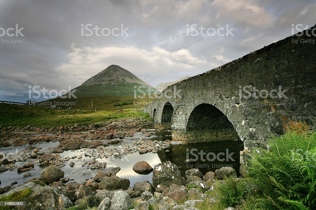 Bridge On The Isle Of skye royalty-free stock photo