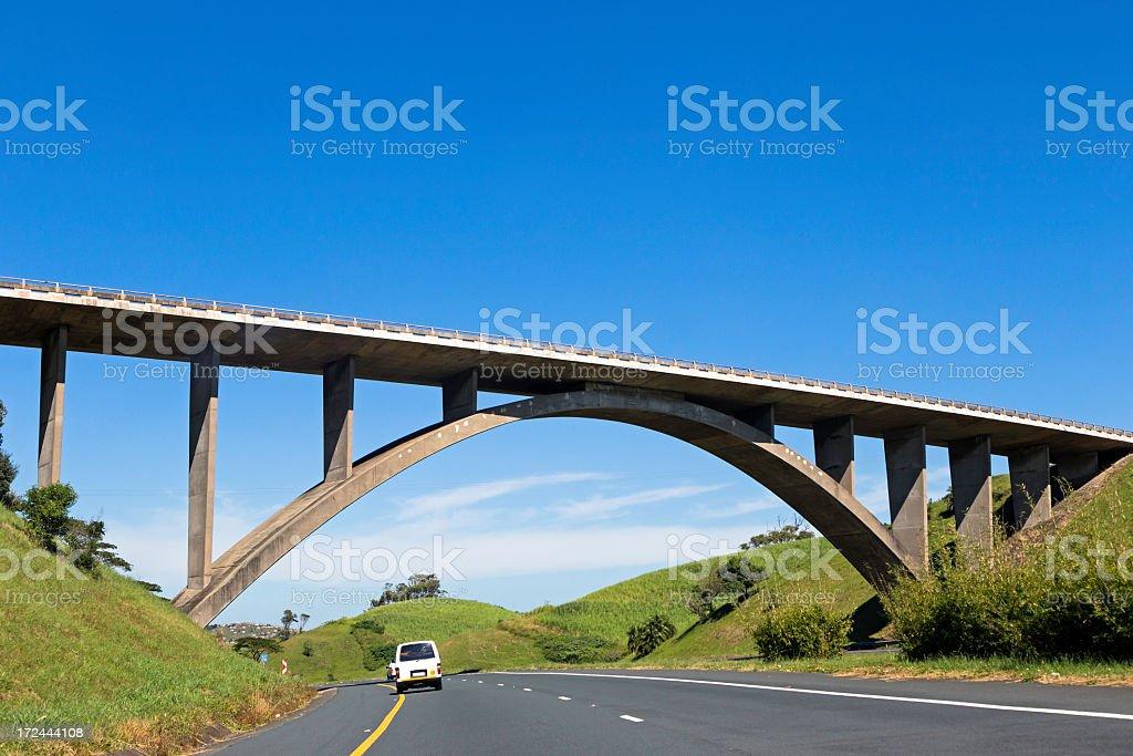 Bridge on the Motorway to South Coast royalty-free stock photo