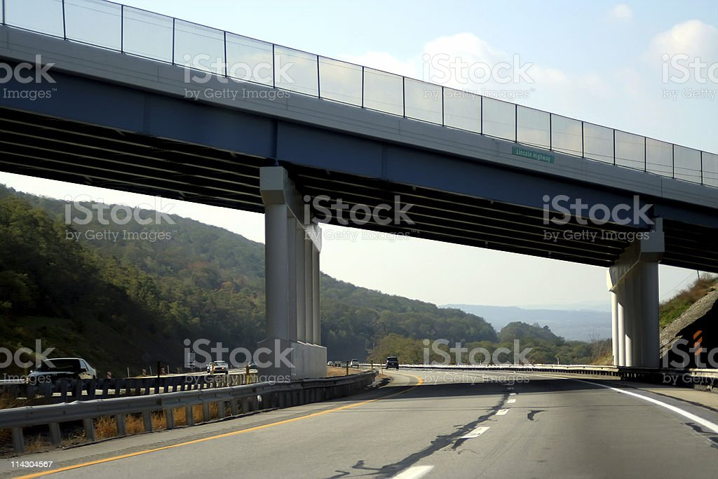 Bridge on the PA Turnpike royalty-free stock photo