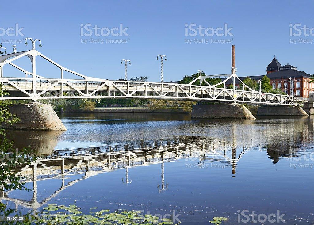 Bridge on the River Kokemaenjoki royalty-free stock photo
