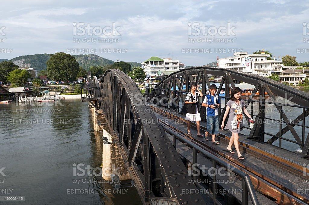Bridge on the River Kwai in Kanchanaburi, Thailand royalty-free stock photo