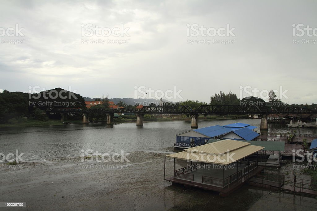 Bridge on The River Kwai in Kanchanaburi, Thailand royalty-free stock photo