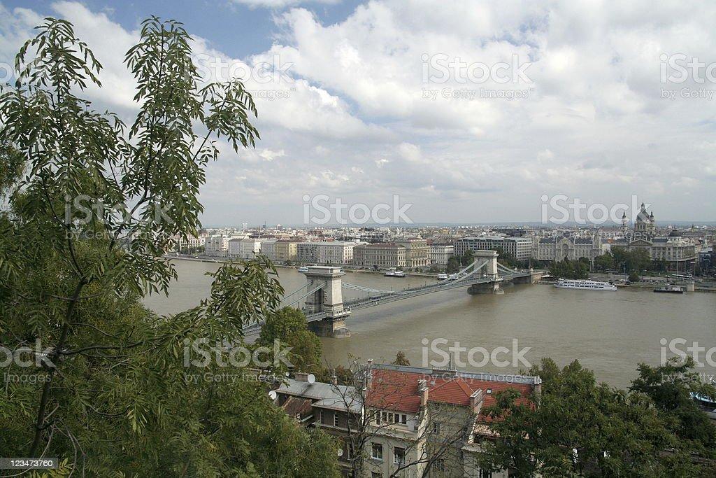 Bridge on the river royalty-free stock photo