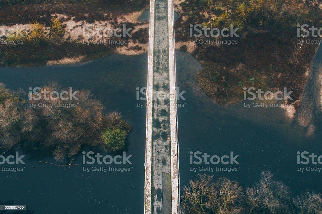 Bridge on the river stock photo