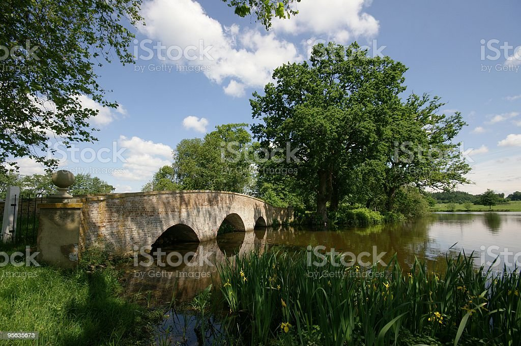 Bridge on Tundry Pond stock photo