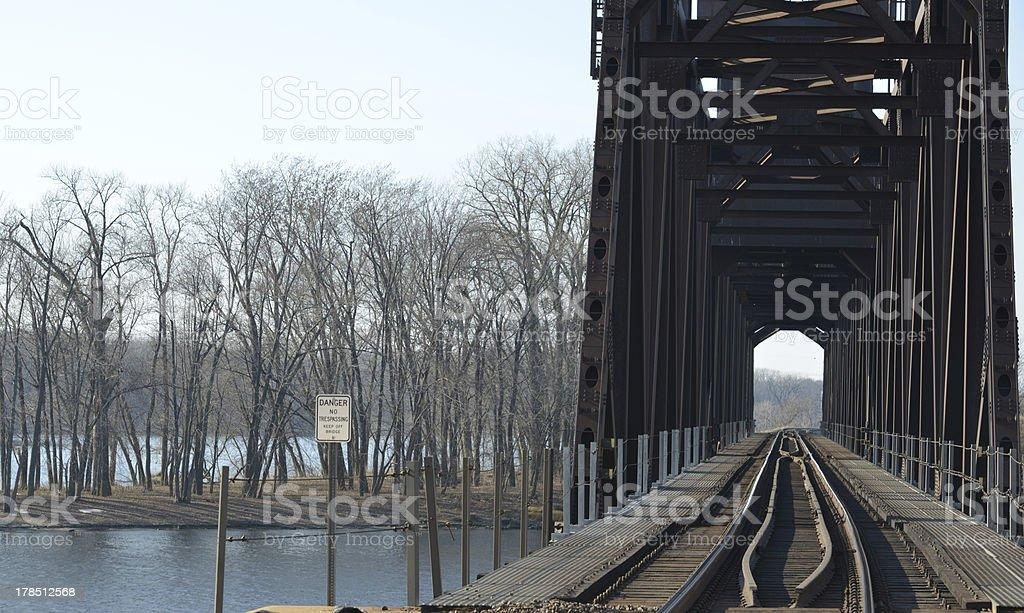 Bridge on Water stock photo