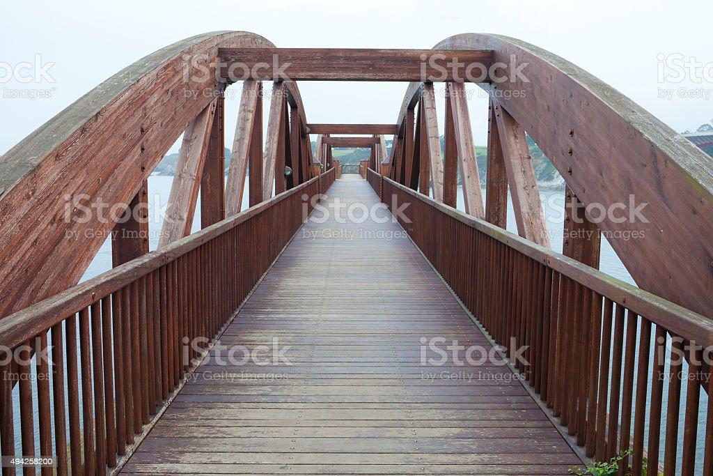 Bridge Out to Sea stock photo