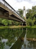 Bridge over a river in Oradea Romania