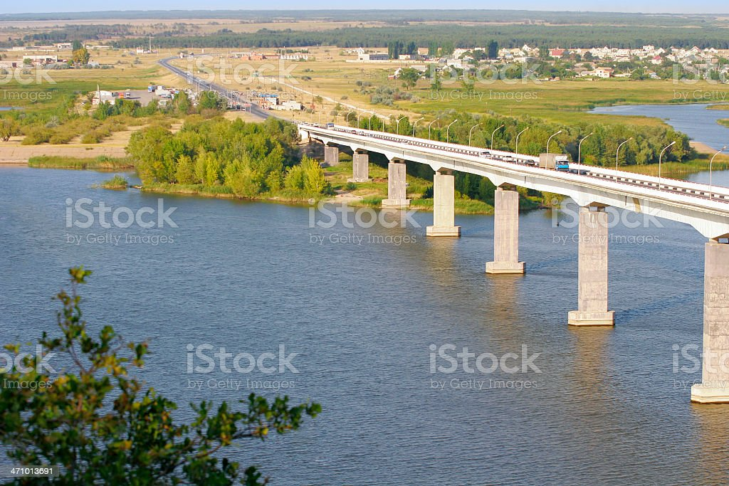 Bridge over a river royalty-free stock photo