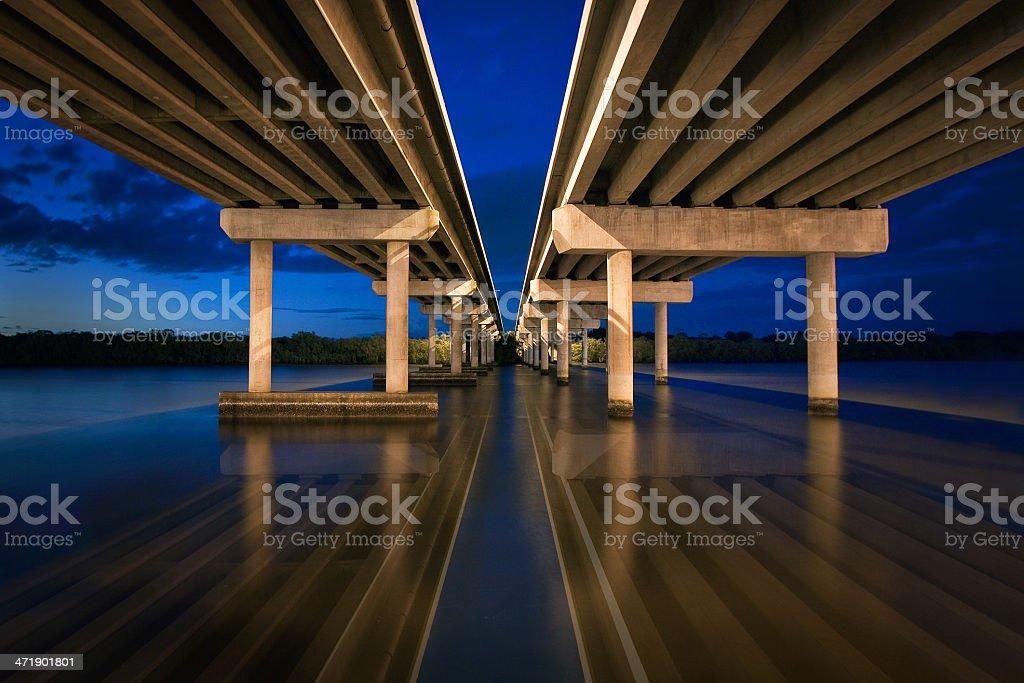 Bridge over a river royalty-free stock photo