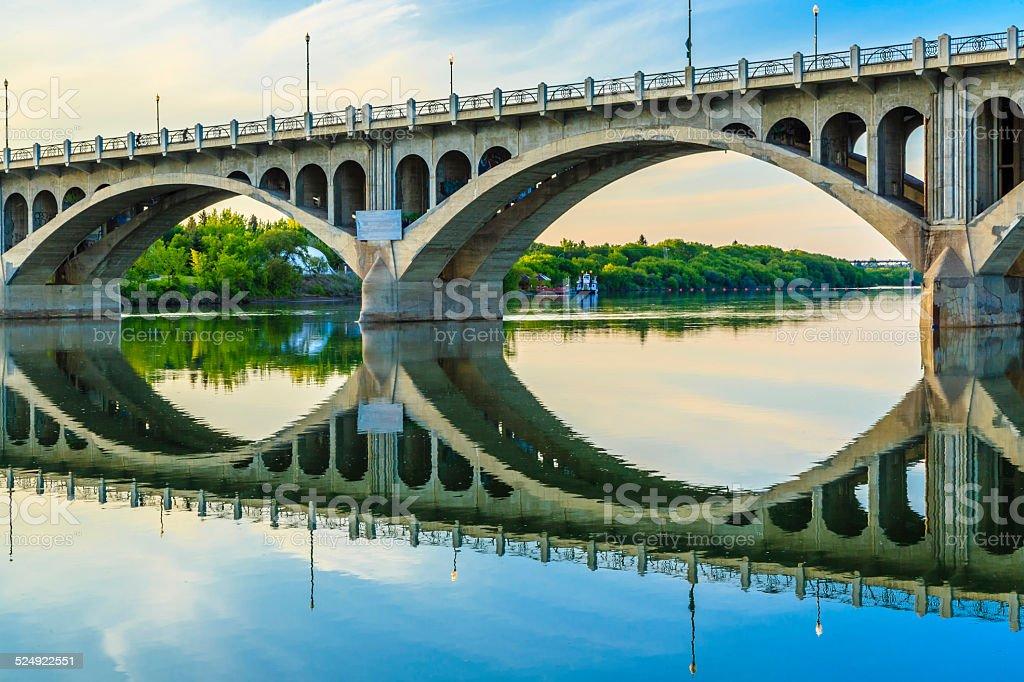 Bridge over Calm Waters stock photo