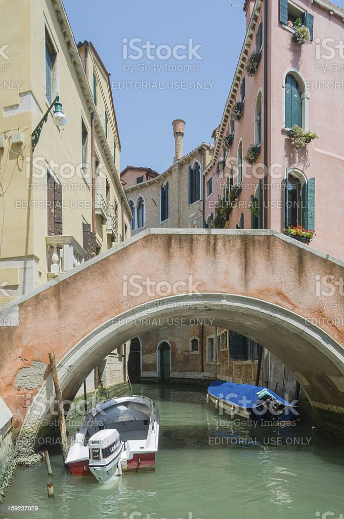 Bridge over Canal in Venice royalty-free stock photo