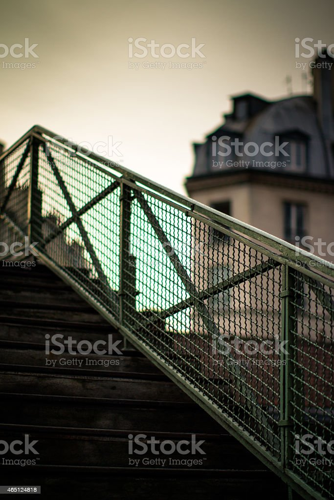 Bridge Over Canal Saint Martin stock photo