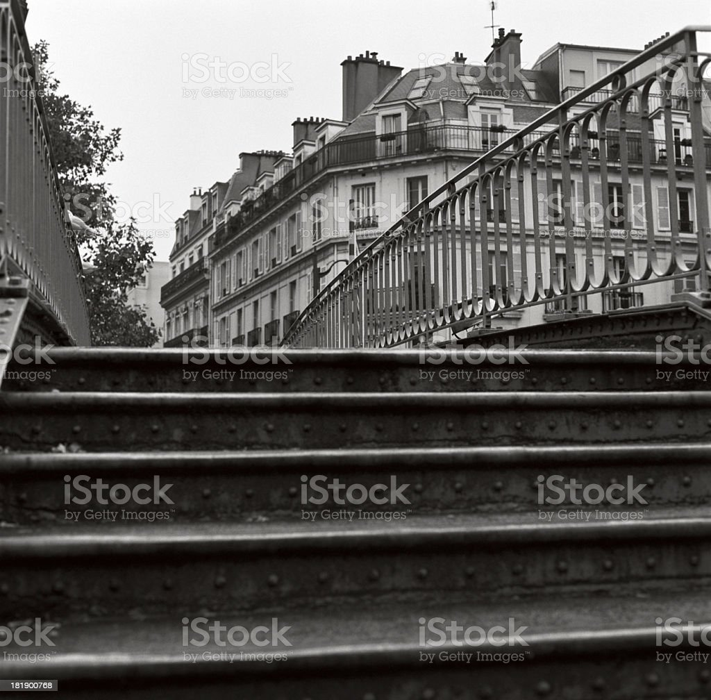 Bridge over Canal St Martin, Paris stock photo