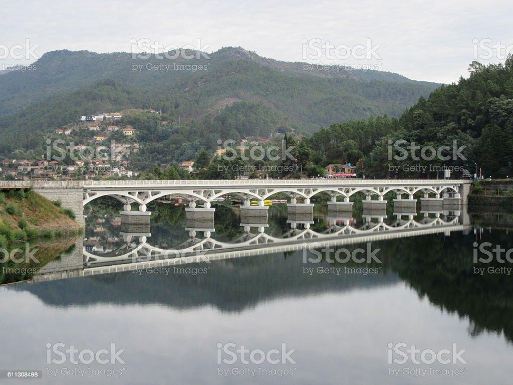 Bridge over Canicada Dam stock photo