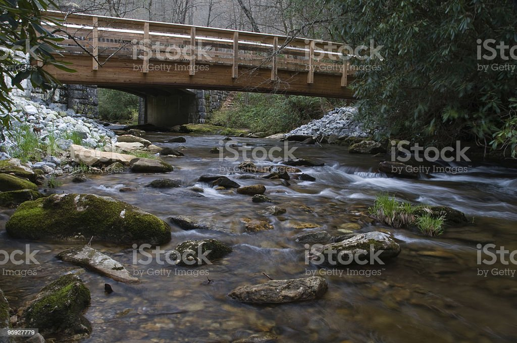 Bridge over Creek, North Carolina royalty-free stock photo