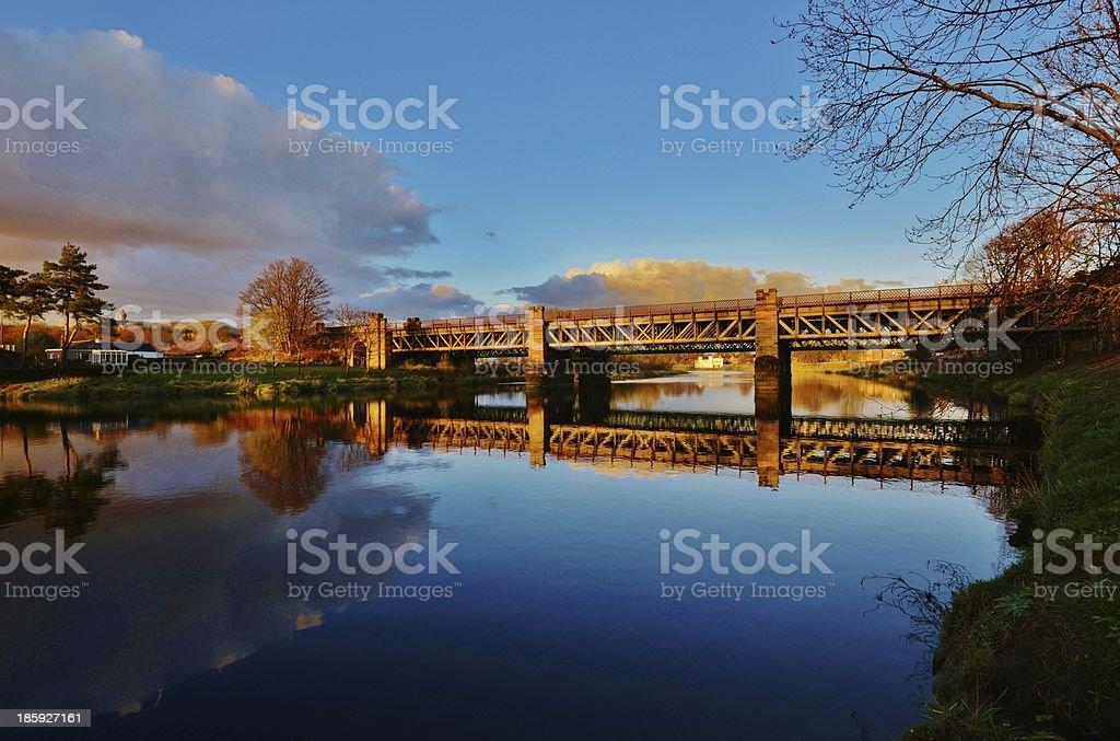 Bridge over Forth River, Scotland stock photo