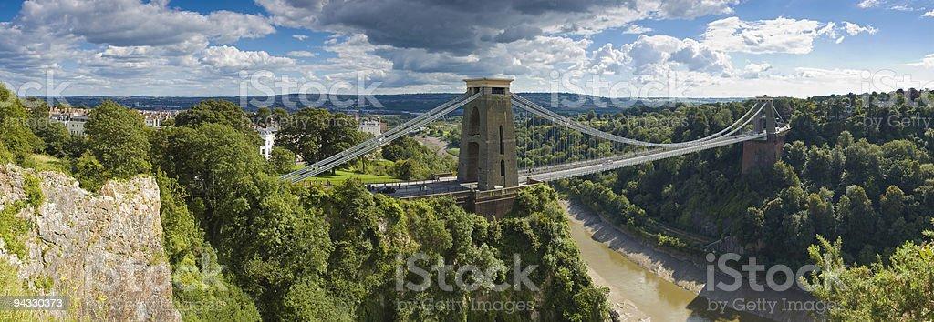 Bridge over gorge, Bristol, UK royalty-free stock photo