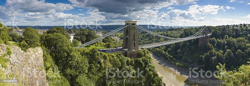 Bridge over gorge, Bristol, UK stock photo