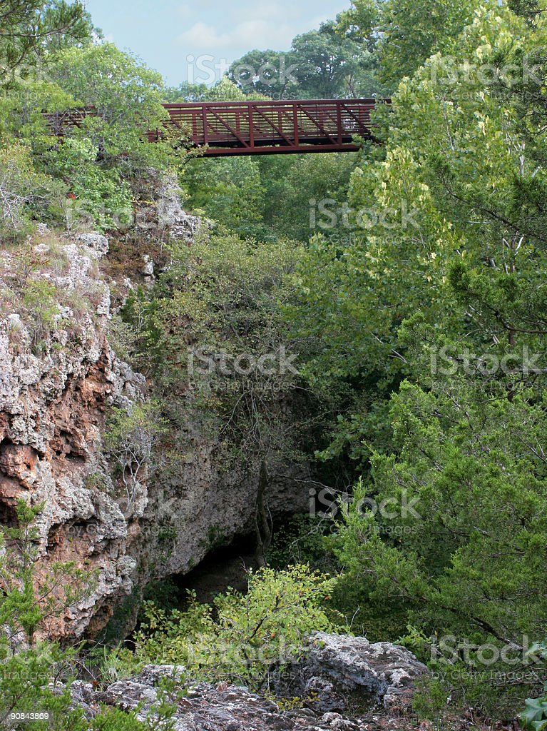 Bridge Over Gorge royalty-free stock photo