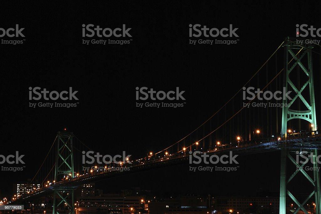Bridge over Hallifax Harbour stock photo