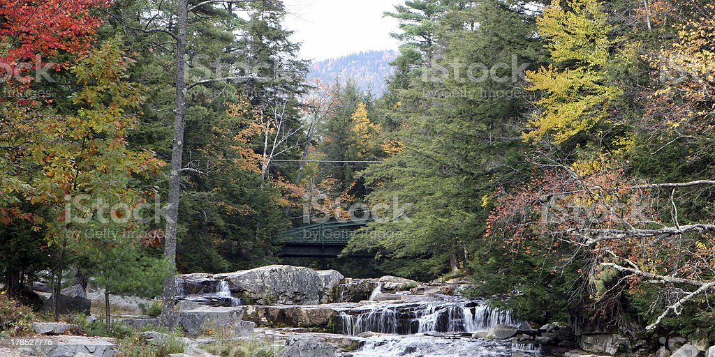Bridge Over Jackson Falls stock photo