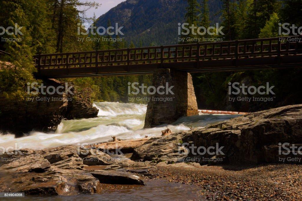 Bridge Over McDonald's Creek stock photo