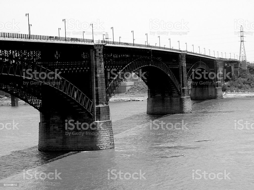 Bridge over Mississippi River stock photo