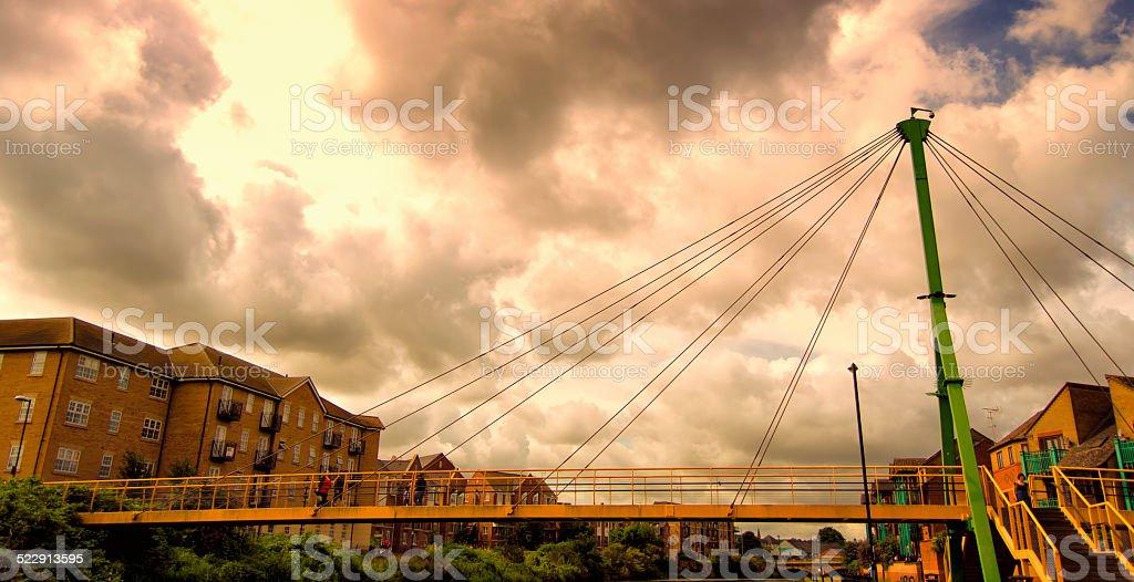 Bridge over Northampton stock photo