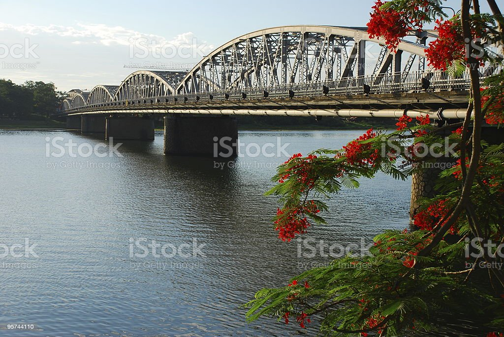 Bridge over Perfume River in Hue, Vietnam stock photo