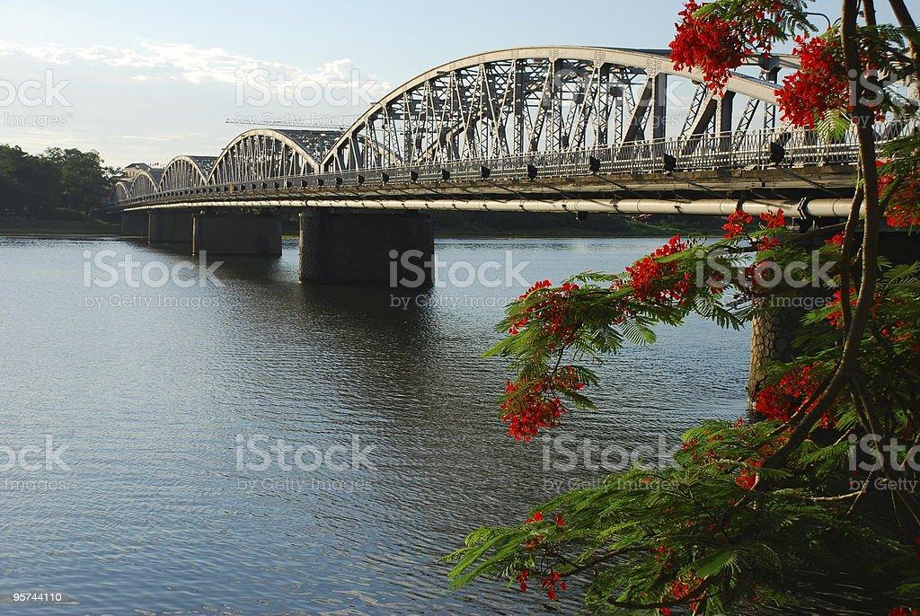 Bridge over Perfume River in Hue, Vietnam stock photo