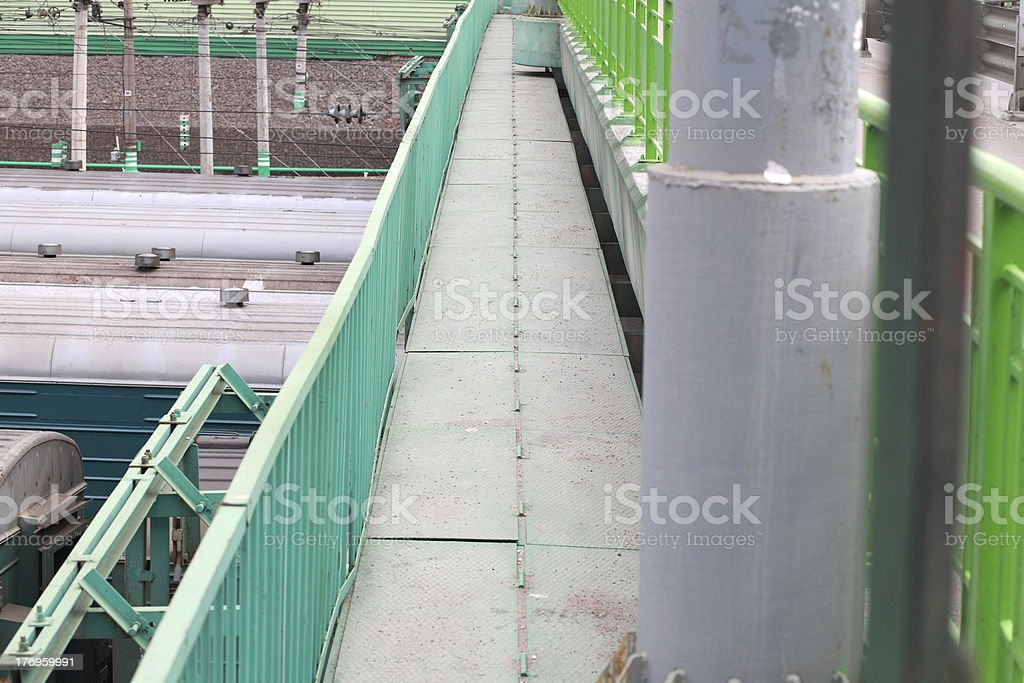 bridge over railway royalty-free stock photo