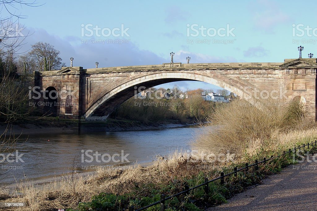 Bridge over River Dee - Chester royalty-free stock photo