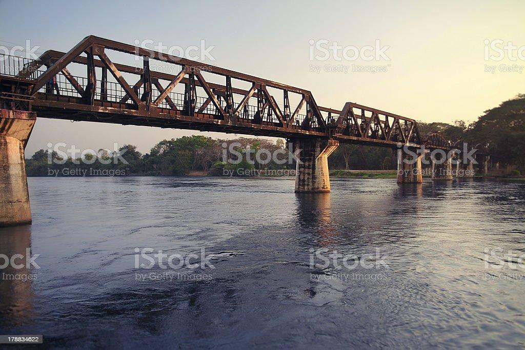 bridge over river kwai stock photo