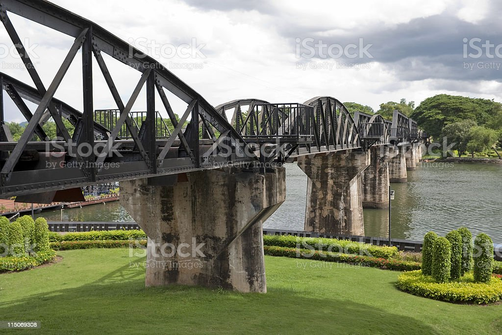 Bridge over River Kwai, Thailand stock photo