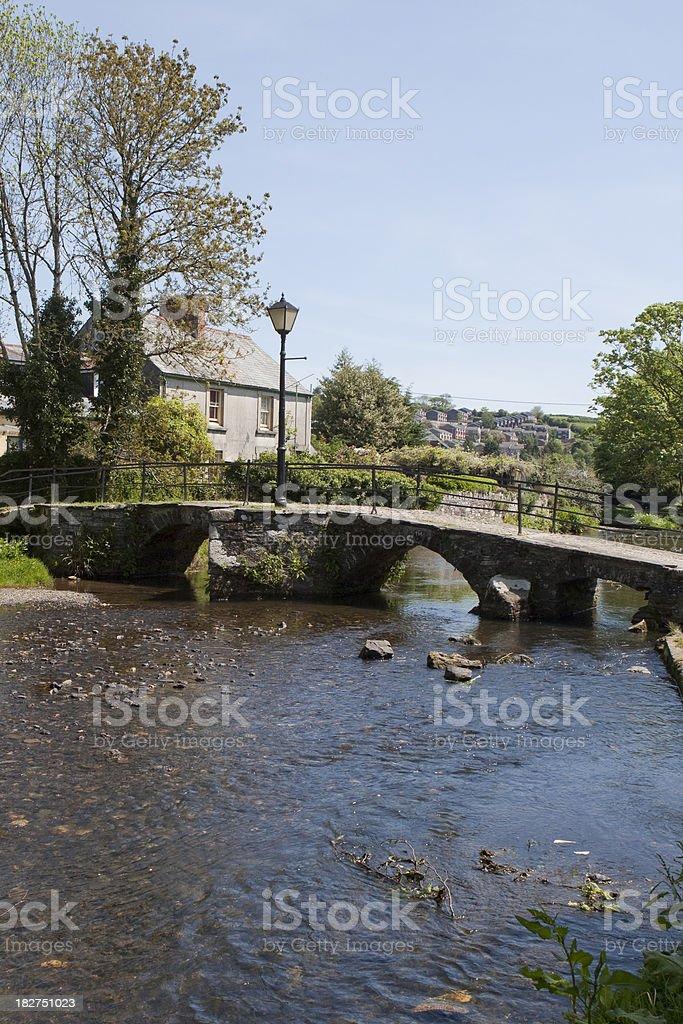 Bridge over river stock photo