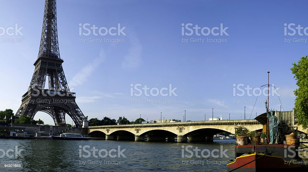 Bridge over River Seine, Paris royalty-free stock photo