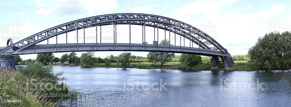 Bridge Over River Trent stock photo