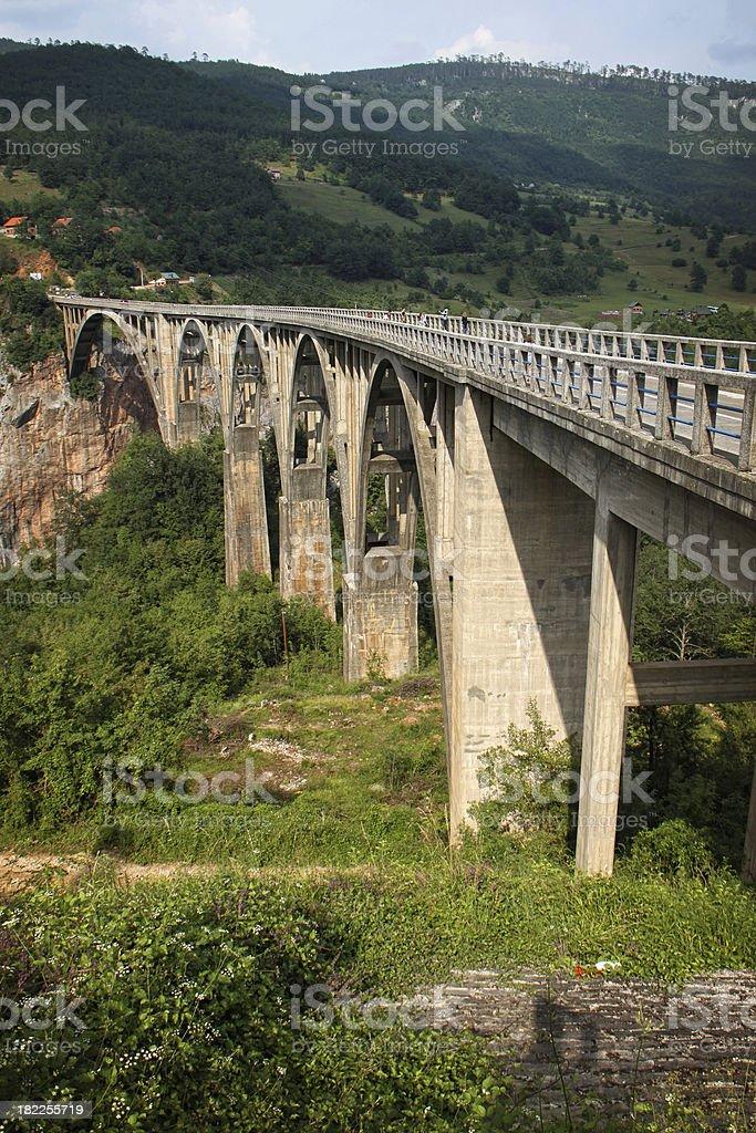 Bridge over Tara royalty-free stock photo